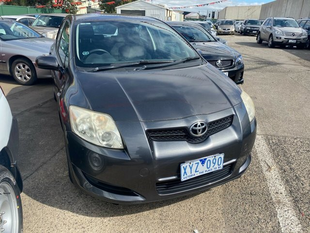 Used Toyota Corolla ZRE152R Ascent Hoppers Crossing, 2008 Toyota Corolla ZRE152R Ascent Grey 6 Speed Manual Hatchback
