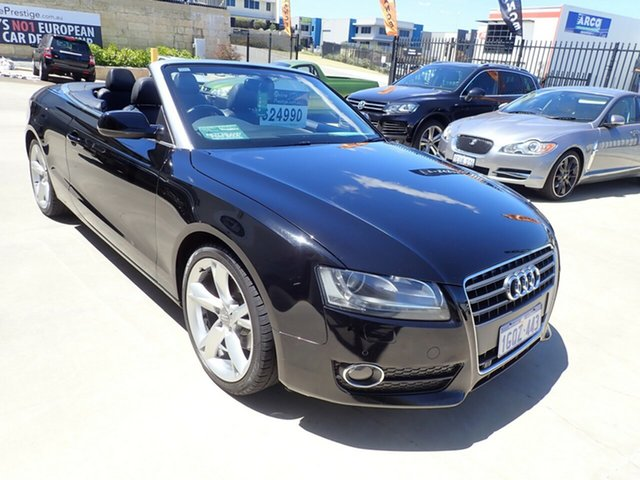 Used Audi A5 8T MY11 Multitronic, 2011 Audi A5 8T MY11 Multitronic Black Magic 8 Speed Constant Variable Cabriolet