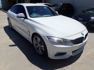 2016 BMW 4 Series F36 420d Gran Coupe Sport Line White Crystal 8 Speed Sports Automatic Hatchback.