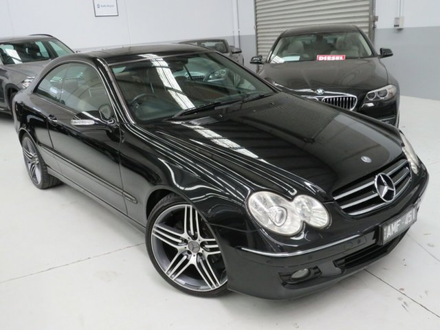 Used Mercedes-Benz CLK-Class C209 MY06 CLK350 Avantgarde, 2005 Mercedes-Benz CLK-Class C209 MY06 CLK350 Avantgarde Black 7 Speed Sports Automatic Coupe