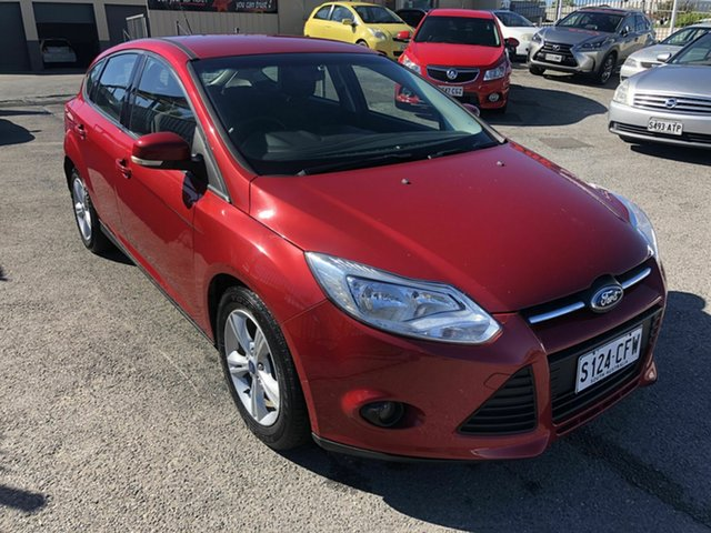 Used Ford Focus LW MkII Trend PwrShift Hampstead Gardens, 2013 Ford Focus LW MkII Trend PwrShift Red 6 Speed Automatic Hatchback