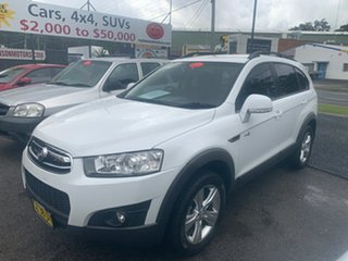 2011 Holden Captiva 7 CX SERIES II CG 4X4  White 6 Speed Automatic Wagon.