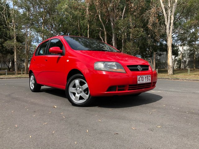 Used Holden Barina TK MY07 Underwood, 2007 Holden Barina TK MY07 Red 4 Speed Automatic Hatchback