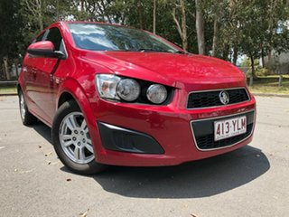 2014 Holden Barina TM MY14 CD Red 6 Speed Automatic Hatchback.