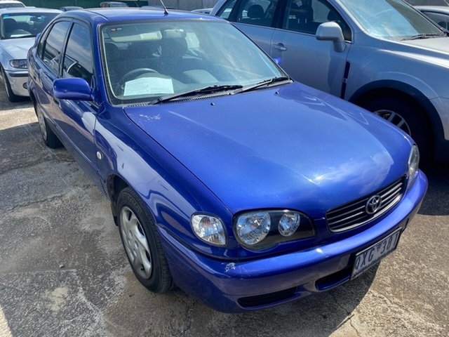 Used Toyota Corolla ZZE122R Conquest Seca Hoppers Crossing, 2001 Toyota Corolla ZZE122R Conquest Seca Blue 4 Speed Automatic Hatchback