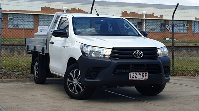 Used Toyota Hilux TGN121R Workmate 4x2, 2018 Toyota Hilux TGN121R Workmate 4x2 White 6 Speed Sports Automatic Cab Chassis