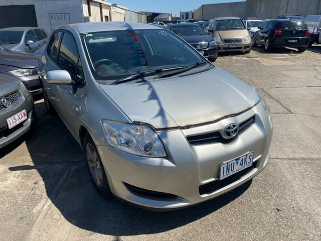 Used Toyota Corolla ZRE152R Ascent Hoppers Crossing, 2009 Toyota Corolla ZRE152R Ascent Silver 6 Speed Manual Hatchback