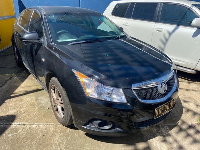Used Holden Cruze JH MY12 CD Hoppers Crossing, 2011 Holden Cruze JH MY12 CD Black 6 Speed Manual Hatchback