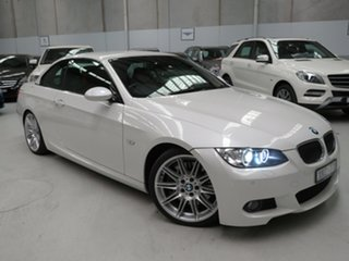 2009 BMW 3 Series E93 MY09 335i D-CT White 7 Speed Sports Automatic Dual Clutch Convertible.