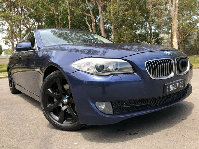 Used BMW 520d F10 MY12 Underwood, 2012 BMW 520d F10 MY12 Blue 8 Speed Automatic Sedan