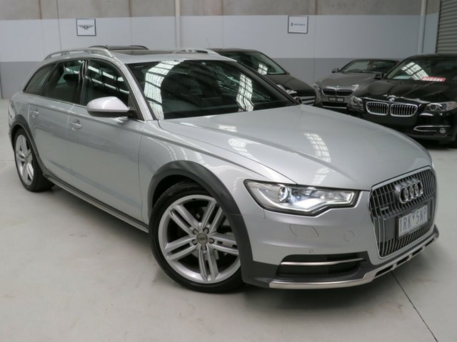 Used Audi A6 4G MY13 Allroad S Tronic Quattro Seaford, 2012 Audi A6 4G MY13 Allroad S Tronic Quattro Silver 7 Speed Sports Automatic Dual Clutch Wagon