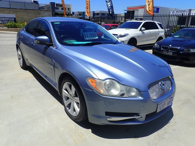 Used Jaguar XF X250 Luxury Wangara, 2008 Jaguar XF X250 Luxury Blue Ice 6 Speed Sports Automatic Sedan