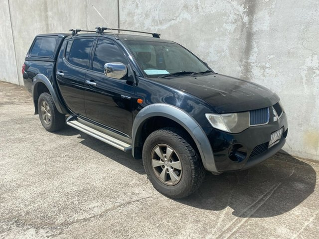 Used Mitsubishi Triton ML MY09 VR Plus (4x4) Hoppers Crossing, 2009 Mitsubishi Triton ML MY09 VR Plus (4x4) Black 4 Speed Automatic Double Cab Utility
