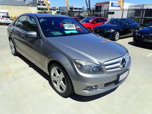 Used Mercedes-Benz C-Class W204 C200 Kompressor Avantgarde Wangara, 2009 Mercedes-Benz C-Class W204 C200 Kompressor Avantgarde Grey Mist 5 Speed Sports Automatic Sedan