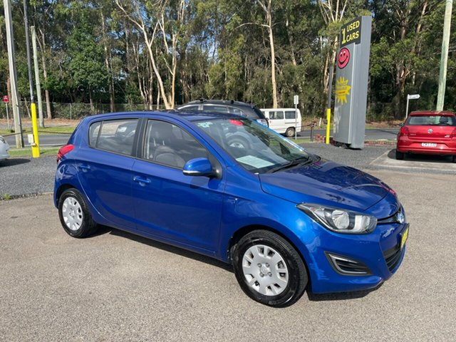 Used Hyundai i20 Coffs Harbour, 2015 Hyundai i20 PB5DACT Blue Hatchback