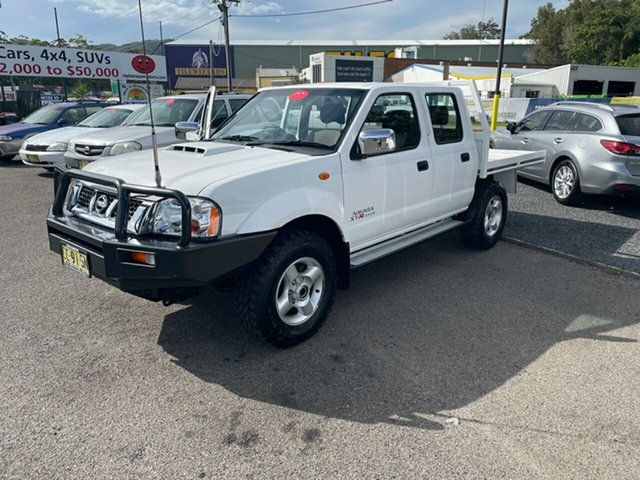 Used Nissan Navara D22 Coffs Harbour, 2014 Nissan Navara D22 st-r 4x4 White 5 Speed Manual Trayback