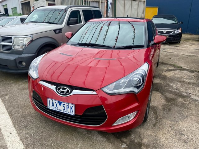 Used Hyundai Veloster FS MY13 Hoppers Crossing, 2013 Hyundai Veloster FS MY13 Red 6 Speed Manual Coupe