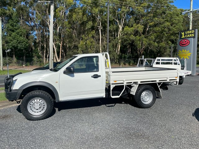 Used Isuzu D-MAX MY09 SX Coffs Harbour, 2010 Isuzu D-MAX MY09 SX White 5 Speed Manual Trayback