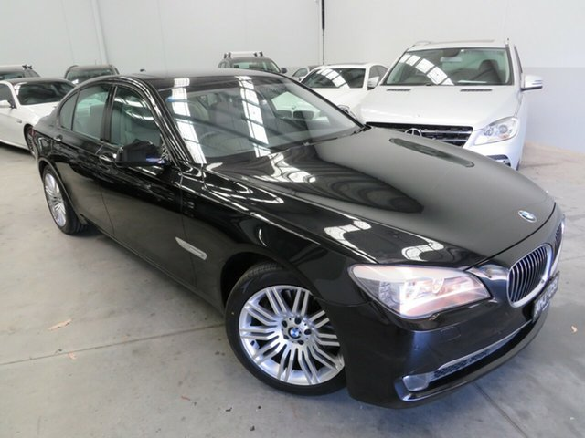 Used BMW 7 Series F01 MY0312 740i Steptronic Seaford, 2012 BMW 7 Series F01 MY0312 740i Steptronic Black 6 Speed Sports Automatic Sedan