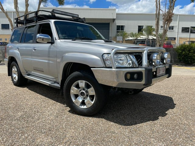 Used Nissan Patrol GU VIII Simpson 50th Ann Edition Underwood, 2012 Nissan Patrol GU VIII Simpson 50th Ann Edition Silver 4 Speed Automatic Wagon