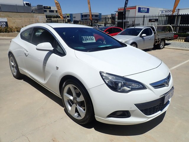 Used Holden Astra PJ MY16 GTC Sport Wangara, 2015 Holden Astra PJ MY16 GTC Sport White Satin 6 Speed Manual Hatchback