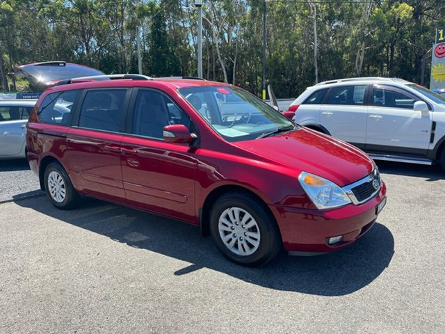 Used Kia Carnival VQ Coffs Harbour, 2010 Kia Carnival VQ EXE 2.9 DIESEL/TURBO 8 SE Maroon 5 Speed Tiptronic Wagon