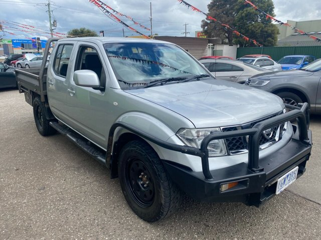 Used Nissan Navara D40 MY11 RX (4x4) Hoppers Crossing, 2011 Nissan Navara D40 MY11 RX (4x4) Silver 6 Speed Manual Dual Cab Chassis