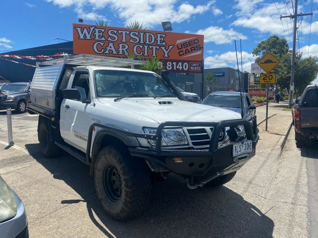 Used Nissan Patrol GU DX (4x4) Hoppers Crossing, 2003 Nissan Patrol GU DX (4x4) White 5 Speed Manual 4x4 Leaf Cab Chassis