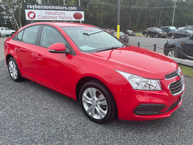 Used Holden Cruze Equipe Coffs Harbour, 2015 Holden Cruze AUTO 1.8 Equipe Red 6 Speed Automatic Sedan