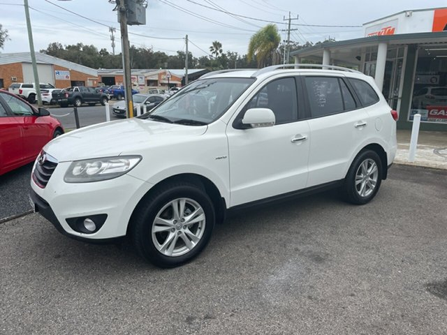 Used Hyundai Santa Fe Highlander Coffs Harbour, 2011 Hyundai Santa Fe CM 7 SEATER Highlander White 6 Speed Automatic Wagon