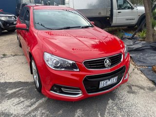 2015 Holden Commodore VF MY15 SV6 Storm Red 6 Speed Automatic Sportswagon.
