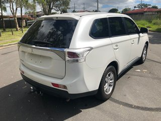 2013 Mitsubishi Outlander ZJ MY14 LS (4x4) White Continuous Variable Wagon.