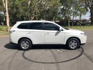 2013 Mitsubishi Outlander ZJ MY14 LS (4x4) White Continuous Variable Wagon