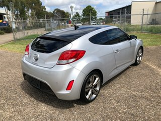 2014 Hyundai Veloster FS MY13 + Silver 6 Speed Auto Dual Clutch Coupe.