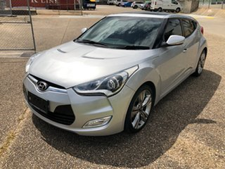 2014 Hyundai Veloster FS MY13 + Silver 6 Speed Auto Dual Clutch Coupe