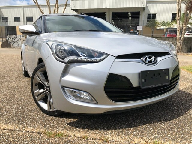 Used Hyundai Veloster FS MY13 + Underwood, 2014 Hyundai Veloster FS MY13 + Silver 6 Speed Auto Dual Clutch Coupe