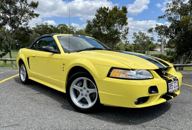 Used Ford Mustang Cobra Springwood, 2002 Ford Mustang Cobra Yellow 5 Speed Manual Convertible