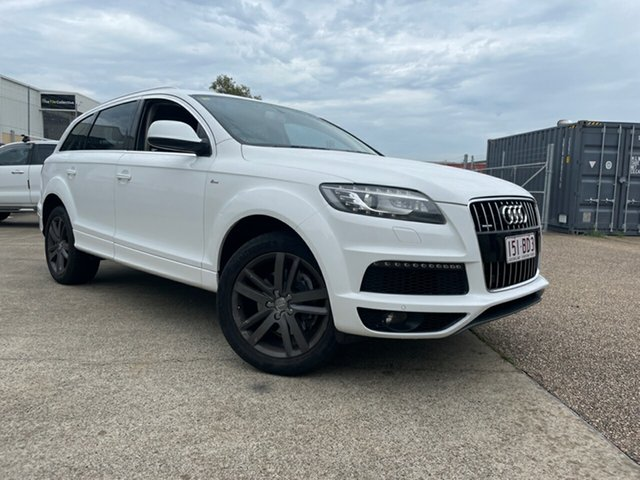 Used Audi Q7 MY12 3.0 TFSI Quattro Underwood, 2012 Audi Q7 MY12 3.0 TFSI Quattro White 8 Speed Automatic Tiptronic Wagon