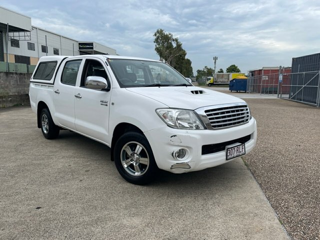 Used Toyota Hilux KUN16R MY12 SR Underwood, 2011 Toyota Hilux KUN16R MY12 SR White 5 Speed Manual Dual Cab Pick-up