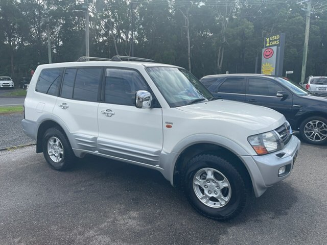 Used Mitsubishi Pajero NM Coffs Harbour, 2000 Mitsubishi Pajero NM EXCEED 7 SEATER White 5 Speed Automatic Wagon
