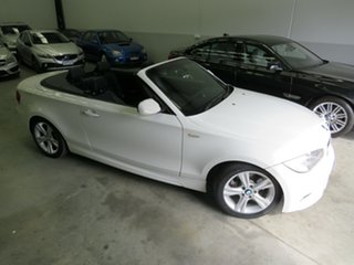 2009 BMW 1 Series E88 MY10 123d Steptronic Alpine White 6 Speed Sports Automatic Convertible