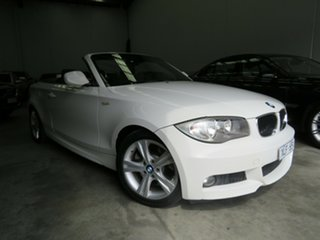 2009 BMW 1 Series E88 MY10 123d Steptronic Alpine White 6 Speed Sports Automatic Convertible.