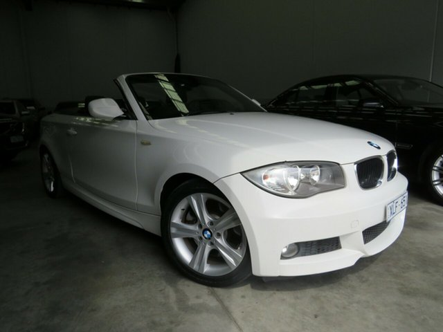 Used BMW 1 Series E88 MY10 123d Steptronic Seaford, 2009 BMW 1 Series E88 MY10 123d Steptronic Alpine White 6 Speed Sports Automatic Convertible
