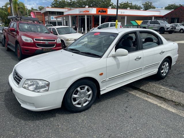 Used Kia Optima SE Coffs Harbour, 2001 Kia Optima MS01A SE White 4 Speed Automatic Sedan