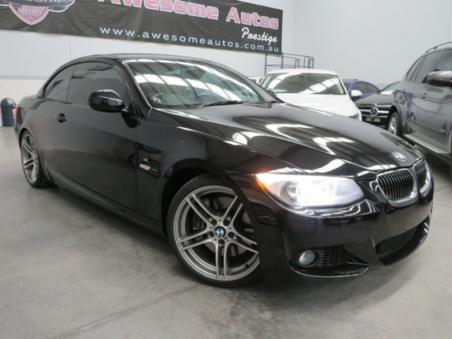 Used BMW 3 Series E93 MY11 335i D-CT M Sport Seaford, 2011 BMW 3 Series E93 MY11 335i D-CT M Sport Black 7 Speed Sports Automatic Dual Clutch Convertible