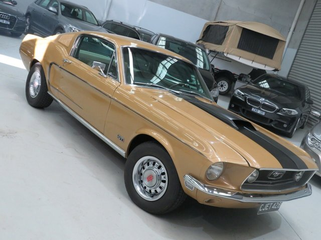 Used Ford Mustang GT Seaford, 1968 Ford Mustang Cobra Jet GT Sunlight Gold 3 Speed Automatic Fastback