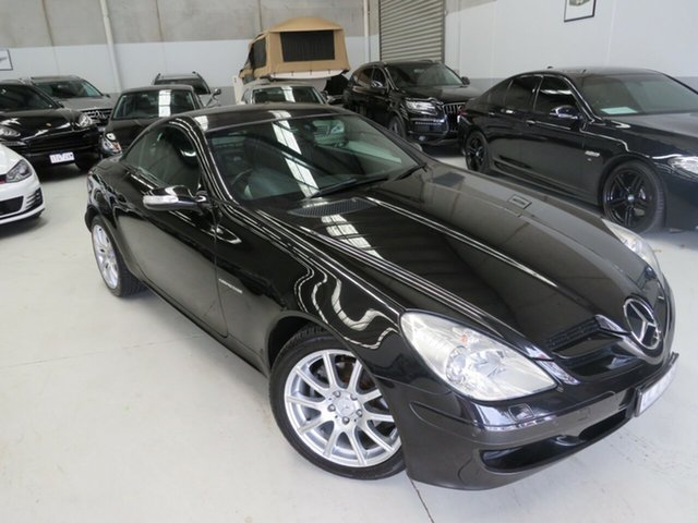 Used Mercedes-Benz SLK-Class R171 MY06 SLK200 Kompressor Seaford, 2006 Mercedes-Benz SLK-Class R171 MY06 SLK200 Kompressor Black 5 Speed Automatic Roadster