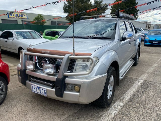 Used Nissan Navara D40 ST-X (4x4) Hoppers Crossing, 2008 Nissan Navara D40 ST-X (4x4) Silver 6 Speed Manual Dual Cab Pick-up
