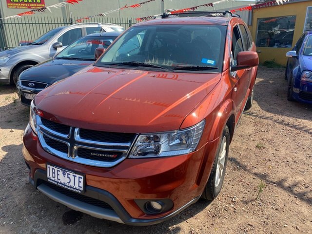Used Dodge Journey JC MY13 SXT Hoppers Crossing, 2013 Dodge Journey JC MY13 SXT Orange 6 Speed Automatic Wagon