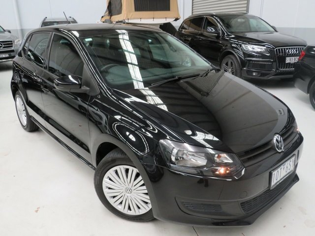 Used Volkswagen Polo 6R MY14 Trendline DSG Seaford, 2014 Volkswagen Polo 6R MY14 Trendline DSG Black 7 Speed Sports Automatic Dual Clutch Hatchback